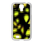 Yellow light Samsung GALAXY S4 I9500/ I9505 Case (White) Front
