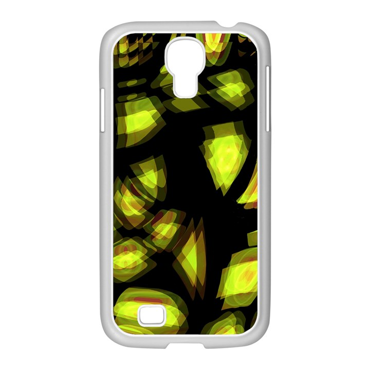 Yellow light Samsung GALAXY S4 I9500/ I9505 Case (White)