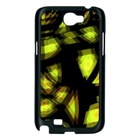 Yellow light Samsung Galaxy Note 2 Case (Black)