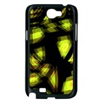 Yellow light Samsung Galaxy Note 2 Case (Black) Front
