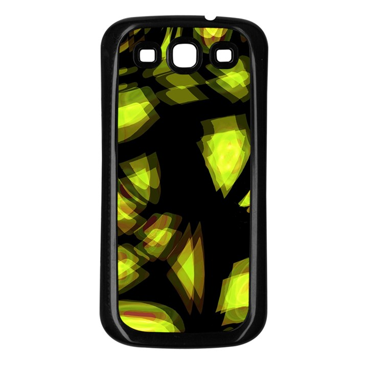 Yellow light Samsung Galaxy S3 Back Case (Black)