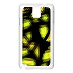 Yellow light Samsung Galaxy Note 3 N9005 Case (White) Front