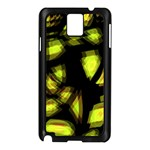 Yellow light Samsung Galaxy Note 3 N9005 Case (Black) Front