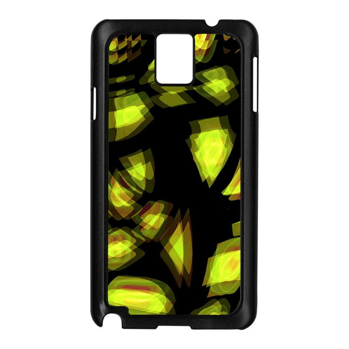 Yellow light Samsung Galaxy Note 3 N9005 Case (Black)