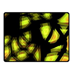 Yellow Light Double Sided Fleece Blanket (small)