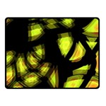 Yellow light Double Sided Fleece Blanket (Small)  45 x34 Blanket Back