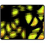Yellow light Double Sided Fleece Blanket (Medium)  58.8 x47.4 Blanket Front