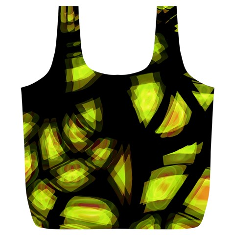 Yellow light Full Print Recycle Bags (L)