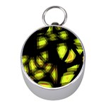 Yellow light Mini Silver Compasses Front
