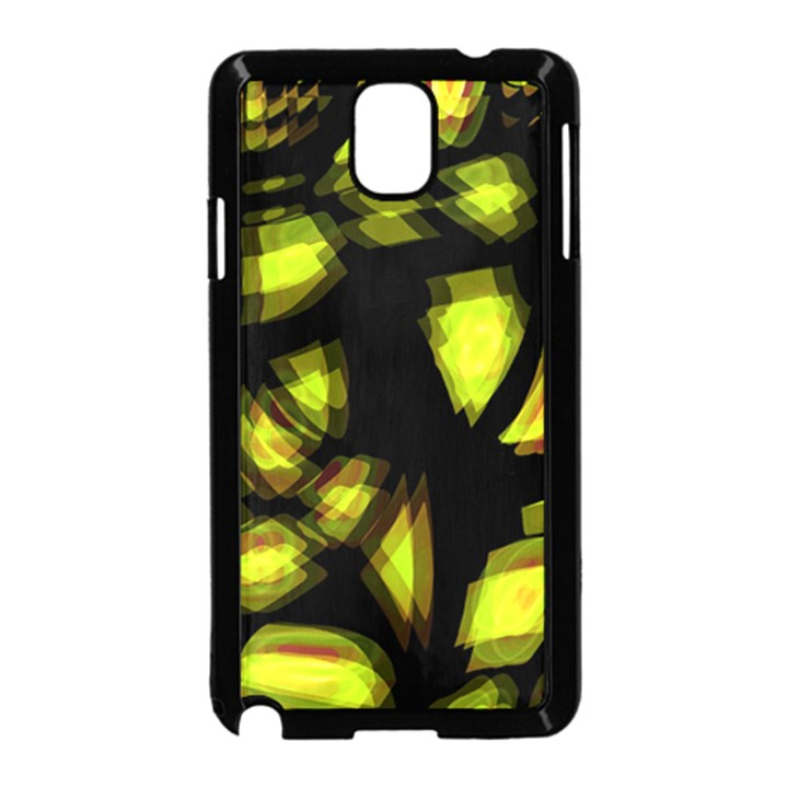Yellow light Samsung Galaxy Note 3 Neo Hardshell Case (Black)