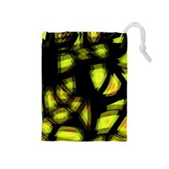 Yellow light Drawstring Pouches (Medium)