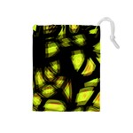 Yellow light Drawstring Pouches (Medium)  Front