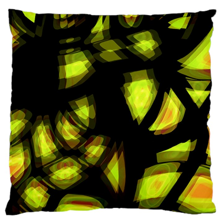 Yellow light Standard Flano Cushion Case (Two Sides)