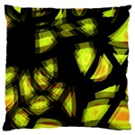Yellow light Large Flano Cushion Case (Two Sides) Back