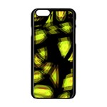 Yellow light Apple iPhone 6/6S Black Enamel Case Front