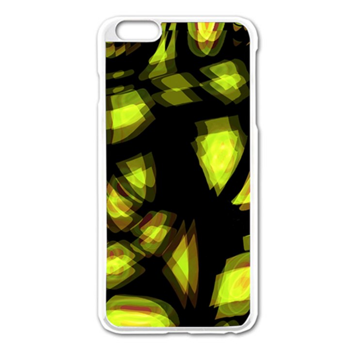 Yellow light Apple iPhone 6 Plus/6S Plus Enamel White Case