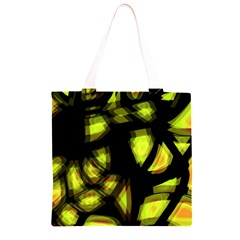 Yellow light Grocery Light Tote Bag