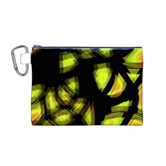 Yellow Light Canvas Cosmetic Bag (m)