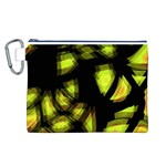 Yellow light Canvas Cosmetic Bag (L) Front