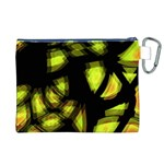 Yellow light Canvas Cosmetic Bag (XL) Back