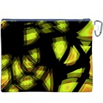 Yellow light Canvas Cosmetic Bag (XXXL) Back