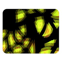 Yellow light Double Sided Flano Blanket (Large)
