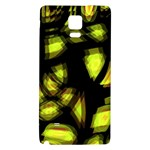 Yellow light Galaxy Note 4 Back Case Front