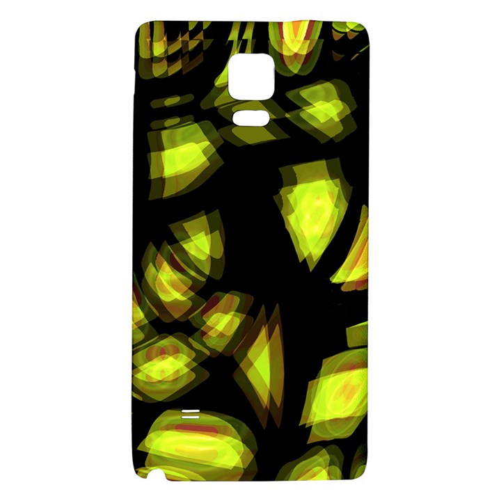 Yellow light Galaxy Note 4 Back Case