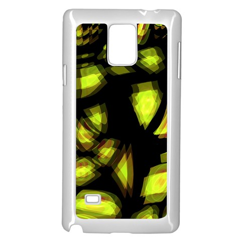 Yellow light Samsung Galaxy Note 4 Case (White)