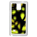 Yellow light Samsung Galaxy Note 4 Case (White) Front