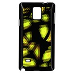 Yellow light Samsung Galaxy Note 4 Case (Black) Front