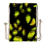 Yellow light Drawstring Bag (Large) Front