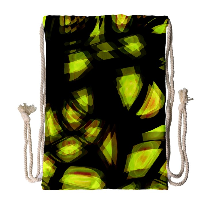 Yellow light Drawstring Bag (Large)