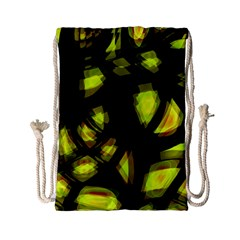 Yellow light Drawstring Bag (Small)