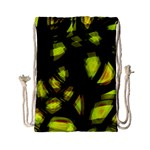 Yellow light Drawstring Bag (Small) Back
