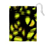 Yellow light Drawstring Pouches (Extra Large) Front
