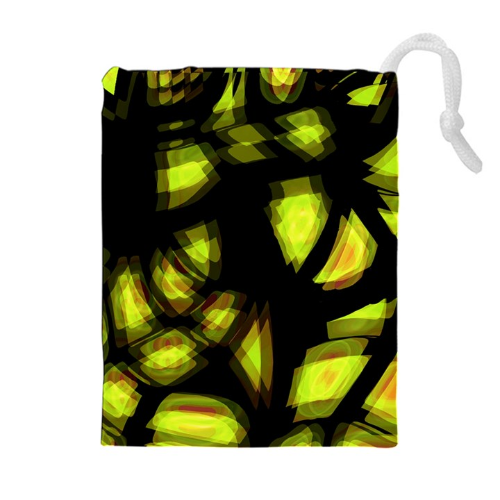 Yellow light Drawstring Pouches (Extra Large)