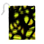 Yellow light Drawstring Pouches (Extra Large) Back