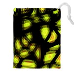 Yellow light Drawstring Pouches (XXL) Front