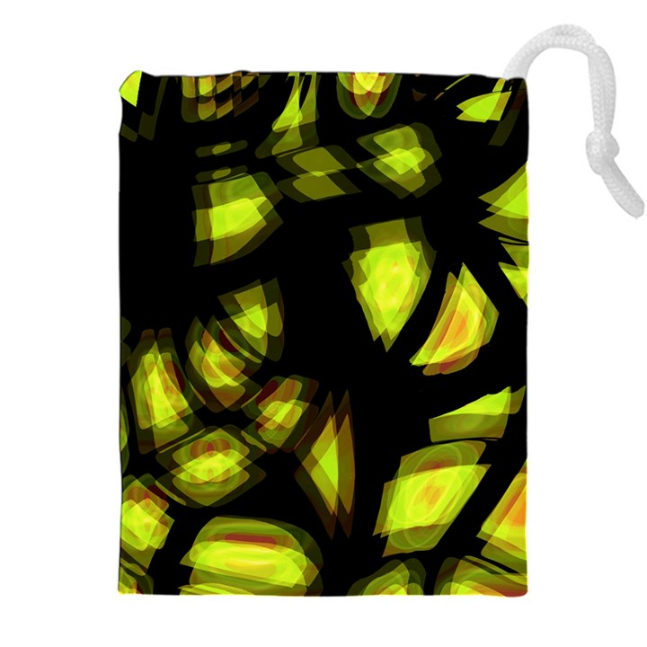 Yellow light Drawstring Pouches (XXL)