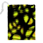 Yellow light Drawstring Pouches (XXL) Back