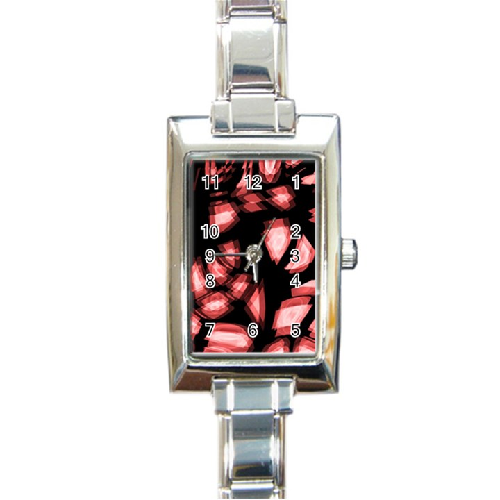 Red light Rectangle Italian Charm Watch