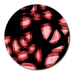 Red light Round Mousepads Front