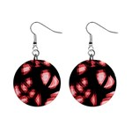 Red light Mini Button Earrings Front