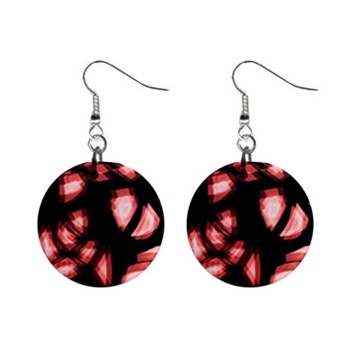 Red light Mini Button Earrings