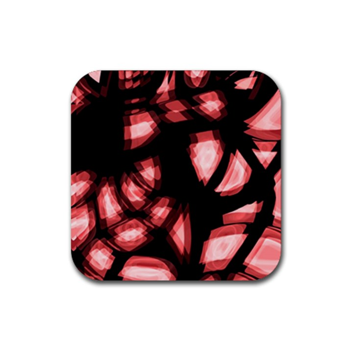 Red light Rubber Square Coaster (4 pack)