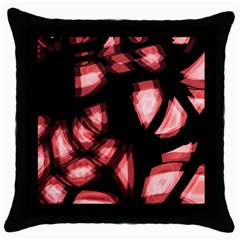 Red light Throw Pillow Case (Black)