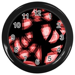 Red Light Wall Clocks (black)