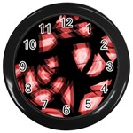 Red light Wall Clocks (Black) Front