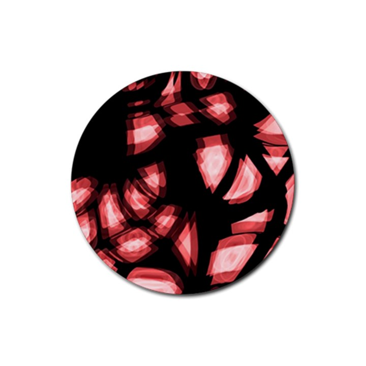 Red light Rubber Round Coaster (4 pack)